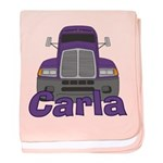 Trucker Carla baby blanket
