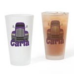 Trucker Carla Drinking Glass
