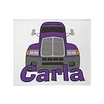 Trucker Carla Throw Blanket