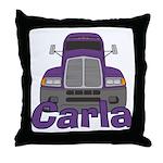 Trucker Carla Throw Pillow
