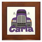 Trucker Carla Framed Tile