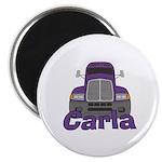 Trucker Carla Magnet