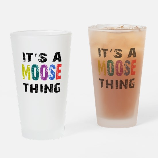 Moose THING Drinking Glass