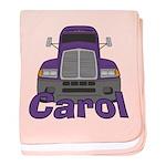 Trucker Carol baby blanket