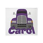 Trucker Carol Throw Blanket