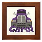 Trucker Carol Framed Tile