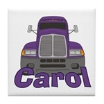 Trucker Carol Tile Coaster