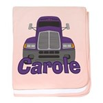 Trucker Carole baby blanket
