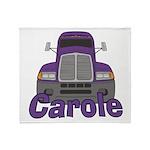 Trucker Carole Throw Blanket