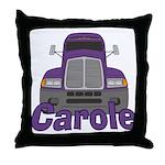 Trucker Carole Throw Pillow