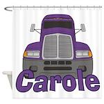 Trucker Carole Shower Curtain