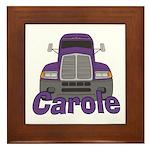 Trucker Carole Framed Tile