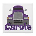 Trucker Carole Tile Coaster