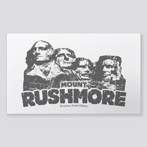 Mount Rushmore Sticker (Rectangle)