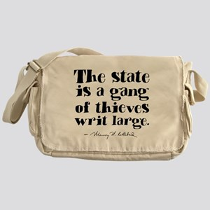The State Is A Gang Messenger Bag