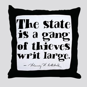The State Is A Gang Throw Pillow