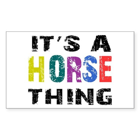 Horse THING Sticker (Rectangle)