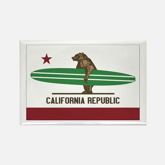 California Surfing Bear Longboard Flag Rectangle M