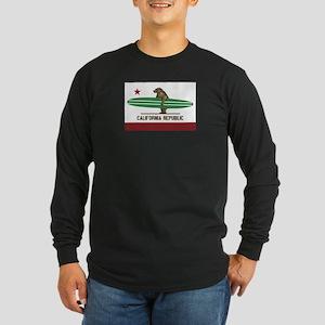 California Surfing Bear Longboard Flag Long Sleeve