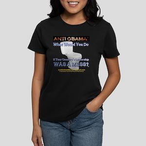 Anti Obama: 008k Women's Dark T-Shirt