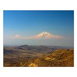Armenian Masis Ararat Mountains Small Poster