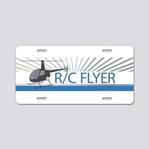 Radio Control Flyer Helicopter Aluminum License Pl