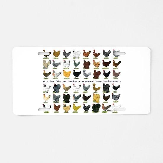 48 Hens Promo Aluminum License Plate