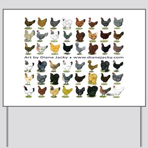 48 Hens Promo Yard Sign