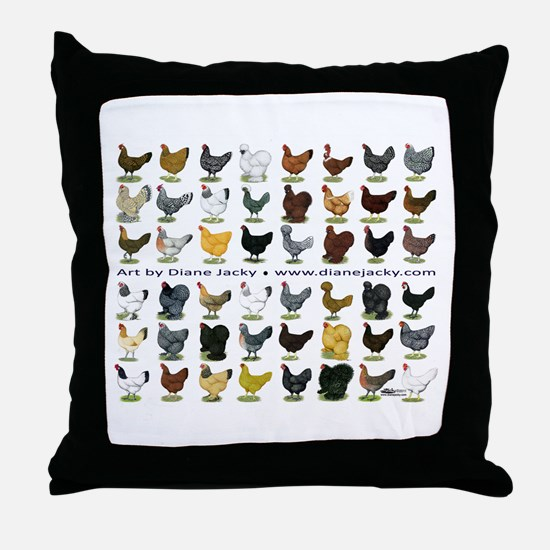 48 Hens Promo Throw Pillow