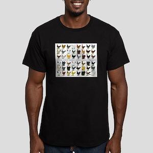 48 Hens Promo Men's Fitted T-Shirt (dark)