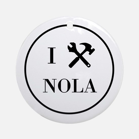 I Built New Orleans Ornament (Round)