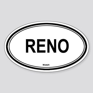 Reno (Nevada) Oval Sticker