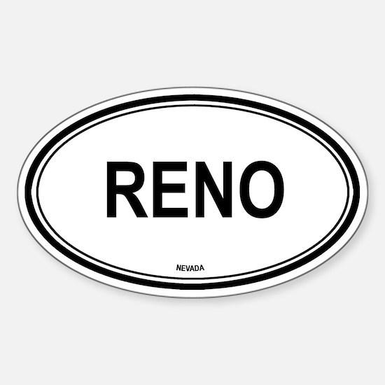 Reno (Nevada) Oval Decal
