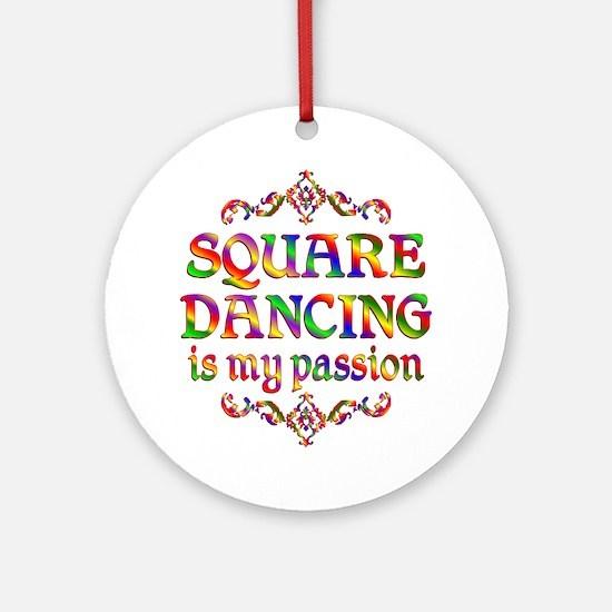 Square Dancing Passion Ornament (Round)