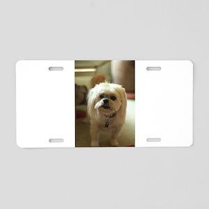 indoor dogs floppy ears Aluminum License Plate