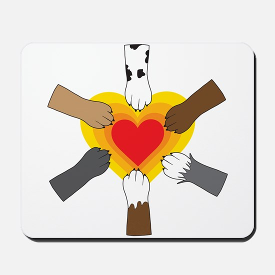 Paws and Heart Mousepad