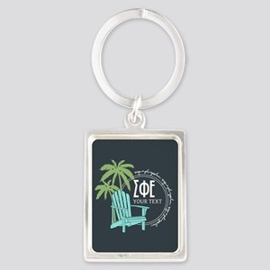 Sigma Phi Epsilon Palm Tree Portrait Keychain