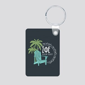 Sigma Phi Epsilon Palm Tre Aluminum Photo Keychain