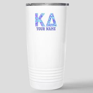 Kappa Delta Tropi 16 oz Stainless Steel Travel Mug