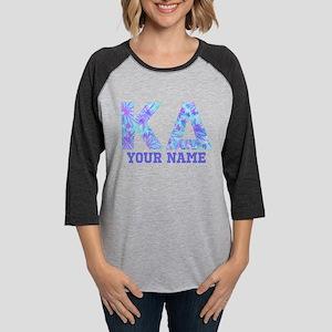 Kappa Delta Tropical Letters P Womens Baseball Tee
