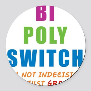 BI-POLY-SWITCH_NEW Round Car Magnet
