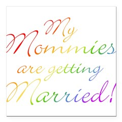 gay_wedding_mommies Square Car Magnet 3