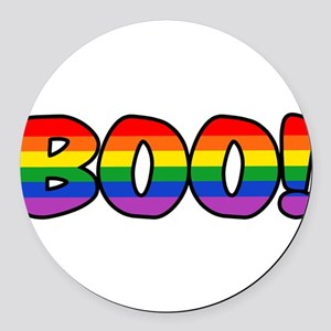 boo-rainbow Round Car Magnet
