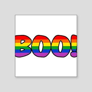 "boo-rainbow Square Sticker 3"" x 3"""