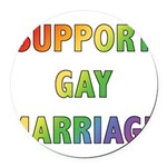 SUPPORT_GAY_MARRIAGE_1 Round Car Magnet