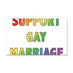 SUPPORT_GAY_MARRIAGE_1 Rectangle Car Magnet
