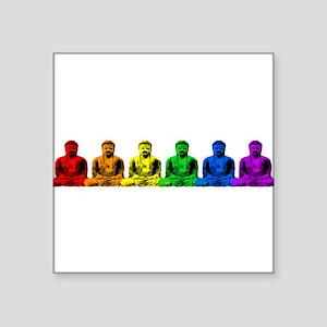 "tr_buddhas-rainbow Square Sticker 3"" x 3"""