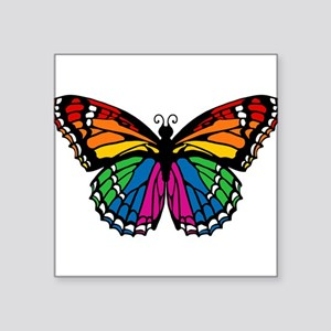 "butterfly-rainbow2 Square Sticker 3"" x 3"""