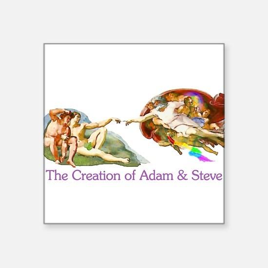 """adam-steve_tr.png Square Sticker 3"""" x 3"""""""