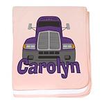 Trucker Carolyn baby blanket